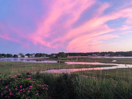 West Yarmouth Cape Cod vacation rental - One of the amazing sunsets on Mill Creek, taken from deck.....