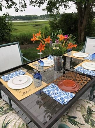 West Yarmouth Cape Cod vacation rental - Summer dining al fresco!