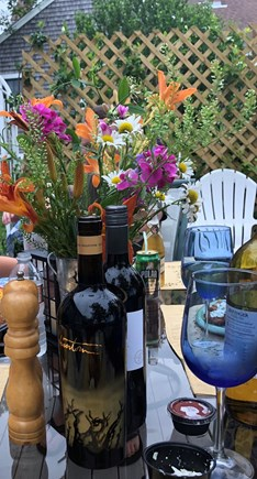West Yarmouth Cape Cod vacation rental - Patio table & chairs for outdoor dining!
