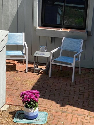 Mashpee Cape Cod vacation rental - Relax outside on the front patio.