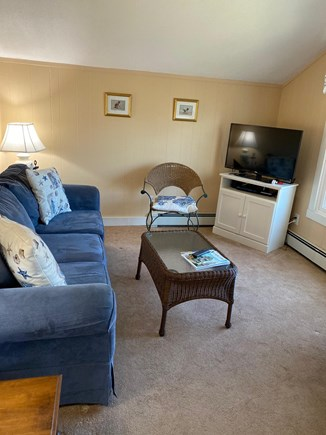 Mashpee Cape Cod vacation rental - Living room with pond view.