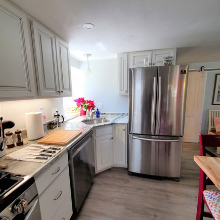 West Dennis Cape Cod vacation rental - New kitchen with full sized refrigerator