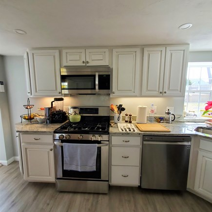 West Dennis Cape Cod vacation rental - New kitchen with granite counters and stainless steel appliances
