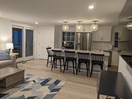 Dennis - Bayview Beach  Cape Cod vacation rental - Kitchen/Family Room combo with smart tv