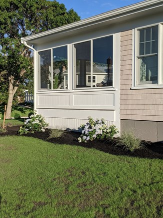 Dennis - Bayview Beach  Cape Cod vacation rental - Enclosed 3 season sunroom with water views