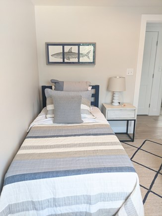 Dennis - Bayview Beach  Cape Cod vacation rental - Bedroom with 2 twin beds, ceiling fan, closet