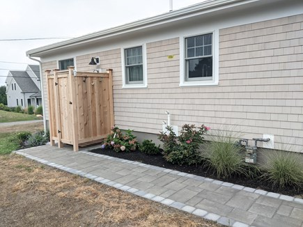 Dennis - Bayview Beach  Cape Cod vacation rental - Spacious outdoor shower with HOT water!