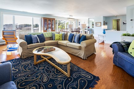 Chatham Cape Cod vacation rental - Living room looking over open floor plan on main level