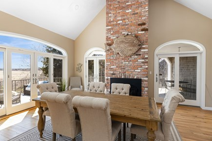 West Barnstable Cape Cod vacation rental - Large open dining room with cathedral ceilings