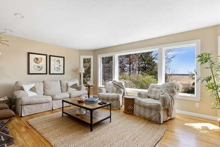 West Barnstable Cape Cod vacation rental - Large living room with sweeping marsh views