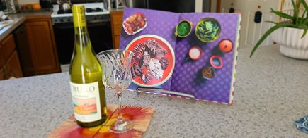 Truro Cape Cod vacation rental - Relax with a glass of chilled local chardonnay