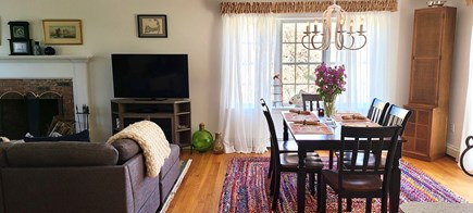 Truro Cape Cod vacation rental - Dining for 6 with table linens provided