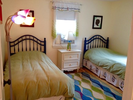 Falmouth Cape Cod vacation rental - Bedroom #2 has large closet and room for portacrib