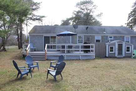 Yarmouth Cape Cod vacation rental - Back yard facing the house