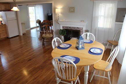 Yarmouth Cape Cod vacation rental - Kitchen table facing the living room.