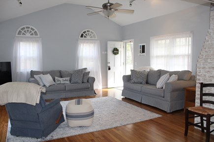 Yarmouth Cape Cod vacation rental - Living room with queen sized pullout sofa.