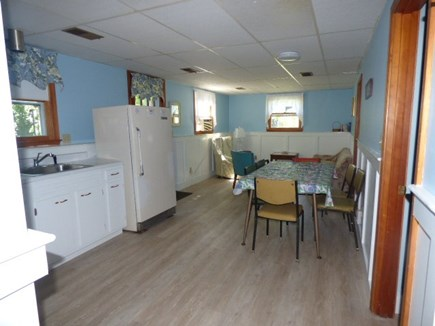 Dennis Cape Cod vacation rental - Living area on bottom floor has a walk out to the back yard