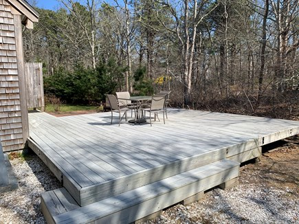 Eastham ocean side Cape Cod vacation rental - View of deck.