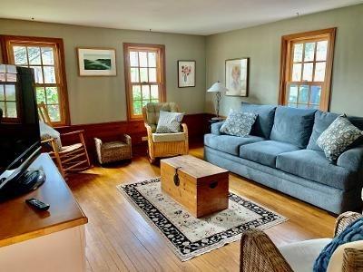 Wellfleet Cape Cod vacation rental - Family room with queen sleep sofa