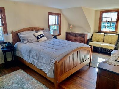 Wellfleet Cape Cod vacation rental - Master bedroom with queen bed and daybed with trundle(2 twins)