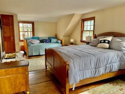 Wellfleet Cape Cod vacation rental - Master bedroom showing queen and day bed trundle(2 twins)