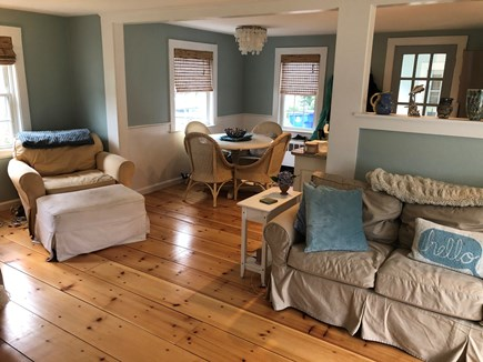 Bourne, Gray Gables Cape Cod vacation rental - Living Room/Dining Area