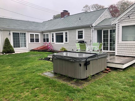 Bourne, Gray Gables Cape Cod vacation rental - Back Yard/Hot Tub