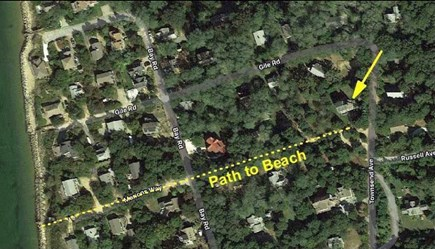 Eastham Cape Cod vacation rental - Proximity and Path to Private Beach.