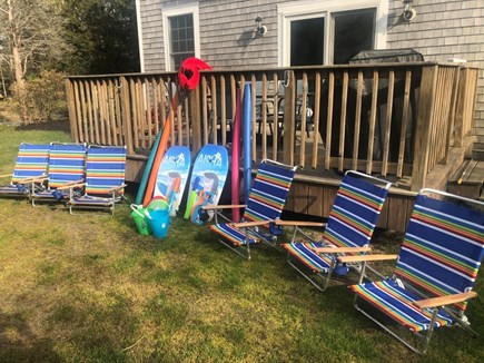 Eastham Cape Cod vacation rental - 6 Beach Chairs and some beach toys to get you started.