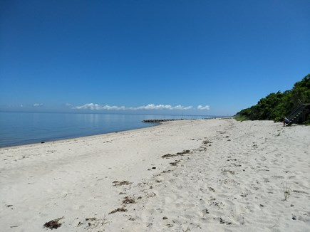 Brewster Cape Cod vacation rental - 360 ft beach at mid tide. safe quiet beach looking east