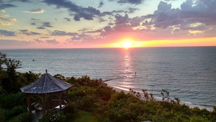 Brewster Cape Cod vacation rental - Have drinks in the Gazebo and watch the sunset over the bay
