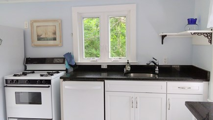 Brewster Cape Cod vacation rental - Kitchen with Granite counter tops and dishwasher