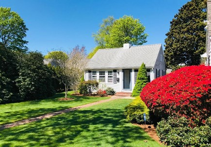 Falmouth Cape Cod vacation rental - View from front. Azaleas, rhododendrons & hydrangeas everywhere
