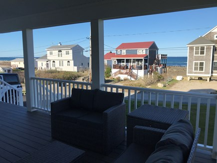 Plymouth MA vacation rental - View from front farmer's porch