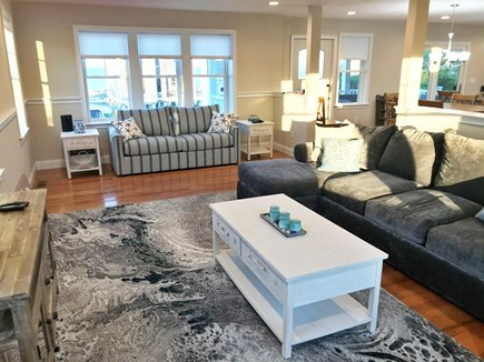 Plymouth MA vacation rental - Spacious, open living room with Queen Sleeper Sofa