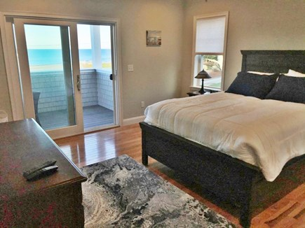 Plymouth MA vacation rental - Master bedroom with queen bed and master balcony