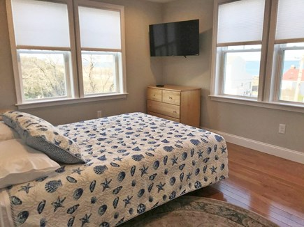Plymouth MA vacation rental - Second guest room with queen bed, ocean views from all windows