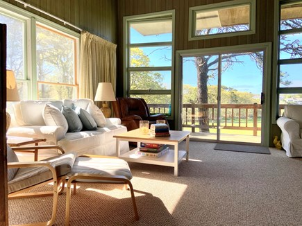Chatham Cape Cod vacation rental - Living room view on to top deck