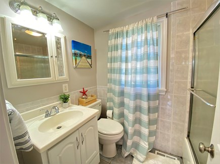 Barnstable, Hyannis Cape Cod vacation rental - Guest bath with tub and shower.