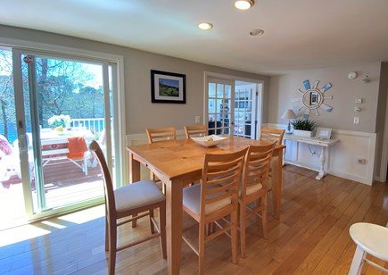 Barnstable, Hyannis Cape Cod vacation rental - Dining room with flat screen tv, not shown here.