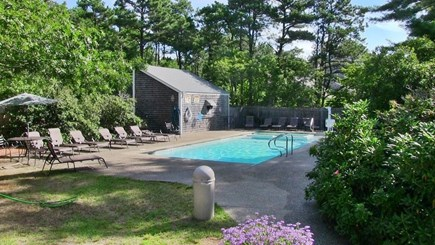 Mashpee Cape Cod vacation rental - The outdoor pool area and hot tub