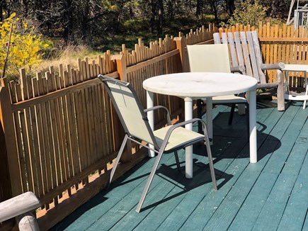 Truro, Seagull Cottage (#9) Cape Cod vacation rental - Dining on the Deck