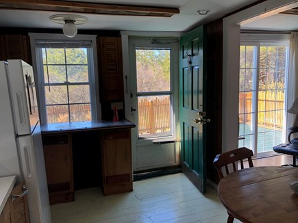 Truro, Seagull Cottage (#9) Cape Cod vacation rental - Kitchen opens to Deck