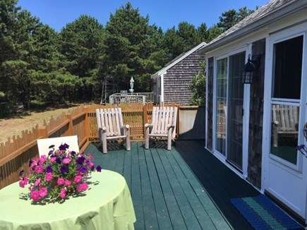 Truro, Seagull Cottage (#9) Cape Cod vacation rental - Back deck