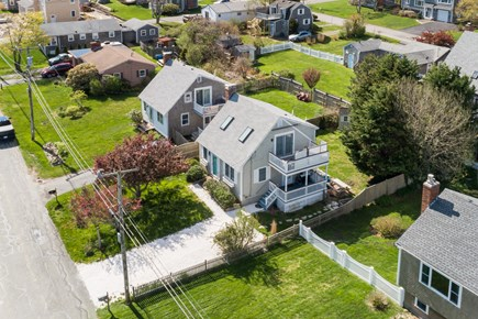Sandwich Cape Cod vacation rental - Aerial of house