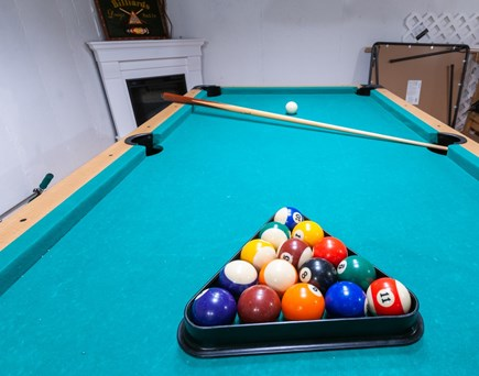 Sandwich Cape Cod vacation rental - Enjoy game night around the basement pool table