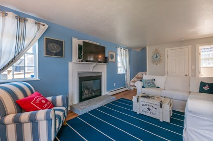 Sandwich Cape Cod vacation rental - TV and seating in Living Room