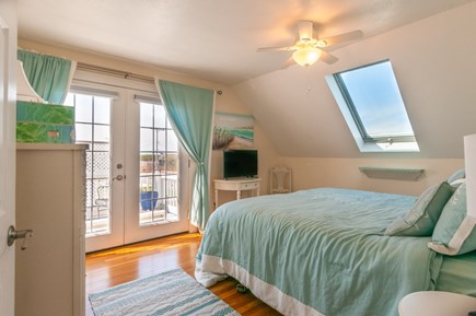 Sandwich Cape Cod vacation rental - Bedroom with King and French door to upper deck