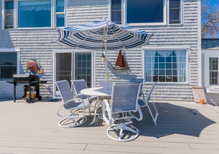 Sandwich Cape Cod vacation rental - Outdoor Dining and gas grill on deck