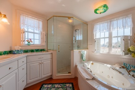 Sandwich Cape Cod vacation rental - Master Bath with shower and jet tub